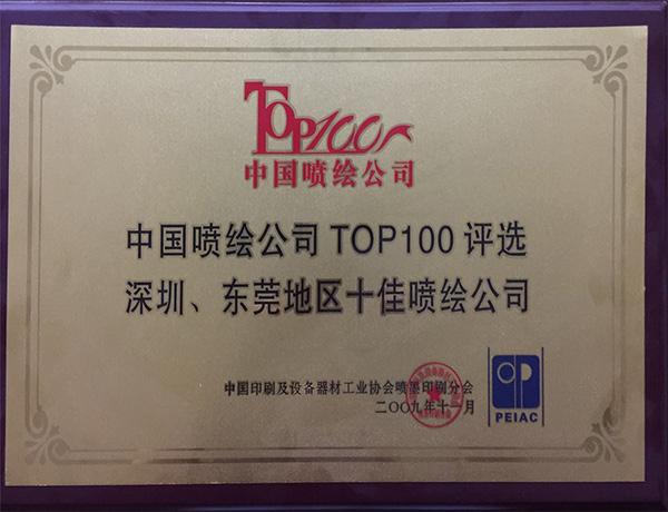 中国喷绘公司TOP100评选