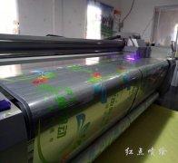 玻璃透明油透贴UV彩白打印